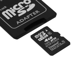 microsdhc 4gb (kingston sdc4/4gb) + sd adapter