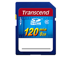 sd sdhc transcend 8gb video class 6 (ts8gsdhc6v)