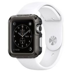 Чехол для Apple Watch Series 1,2 42mm (Spigen Tough Armor 048CS21060) (стальной)