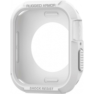 Чехол для Apple Watch 4 44mm (Spigen Rugged Armor 062CS24471) (белый)