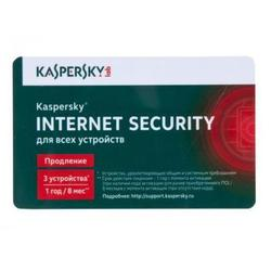 Kaspersky Internet Security Multi-Device Russian Edition 3-Device 1 year Renewal Card (KL1941ROCFR)